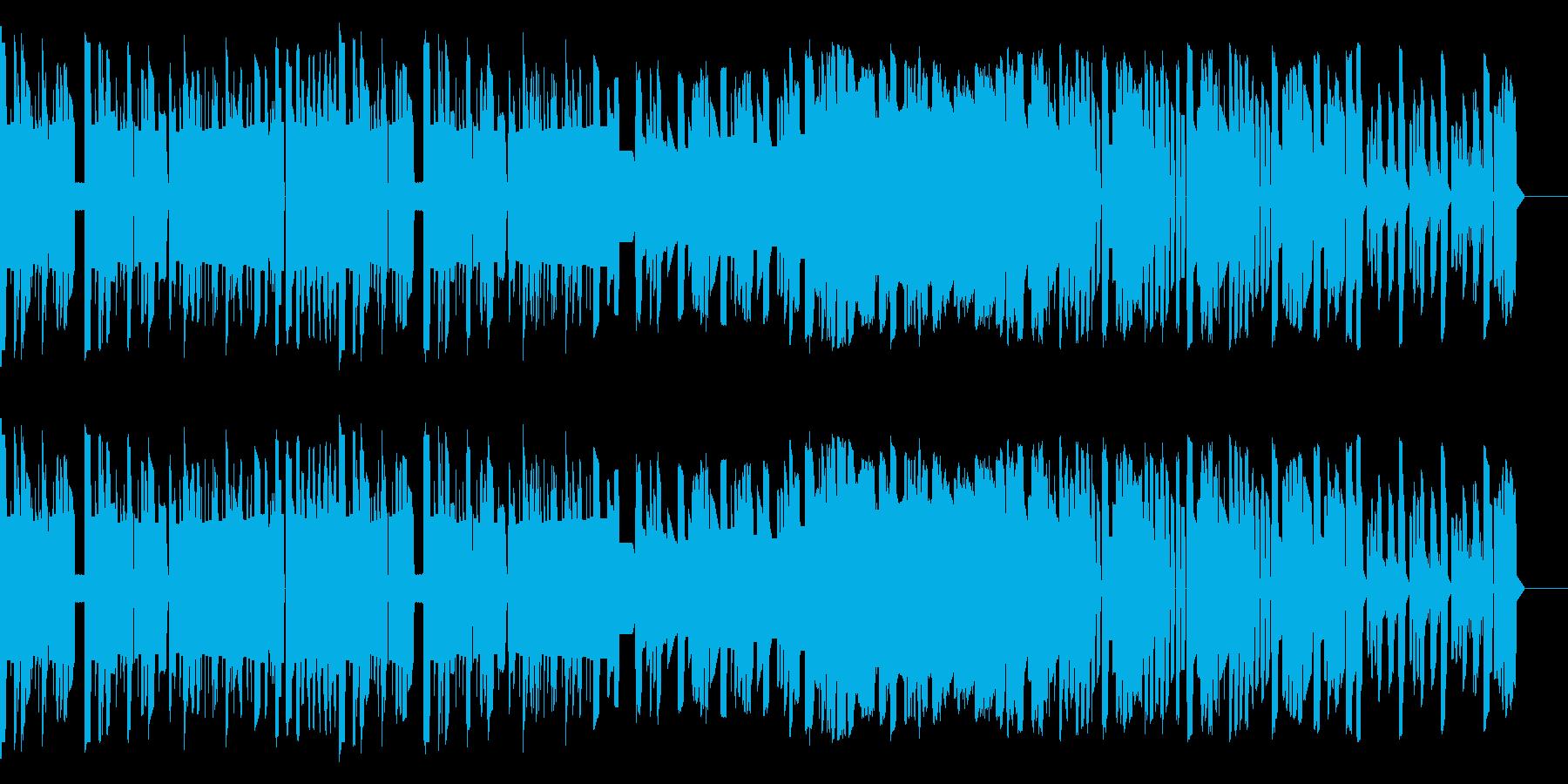 ファミコン音源による冒険感のある曲の再生済みの波形