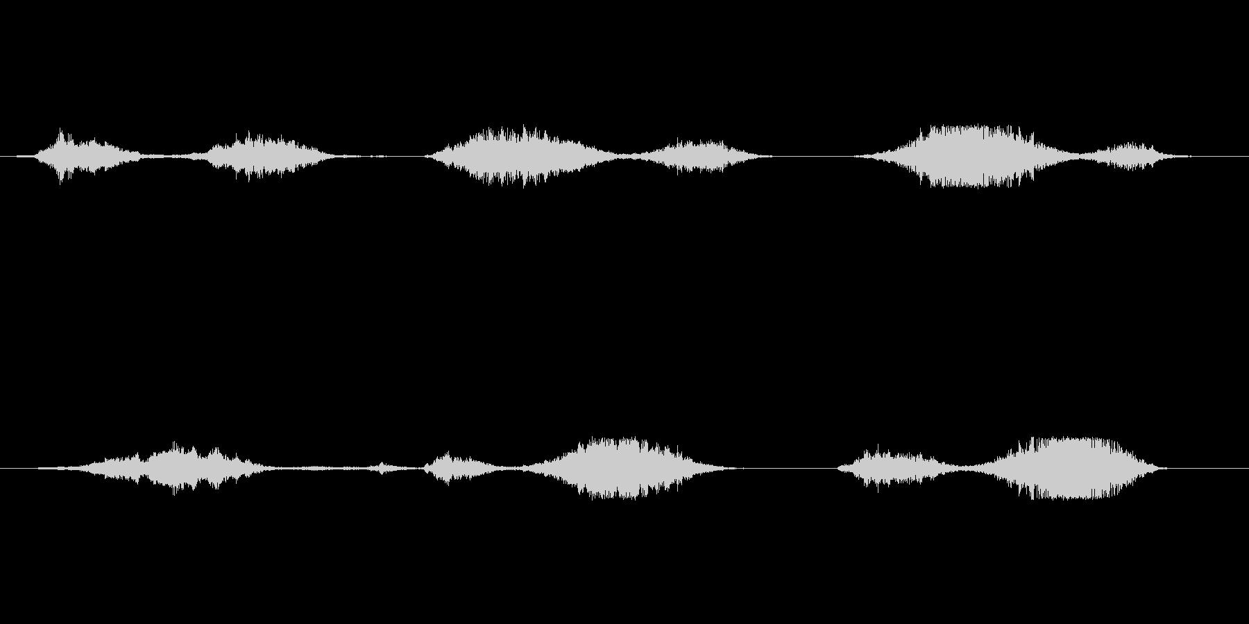 (うめき声)の未再生の波形