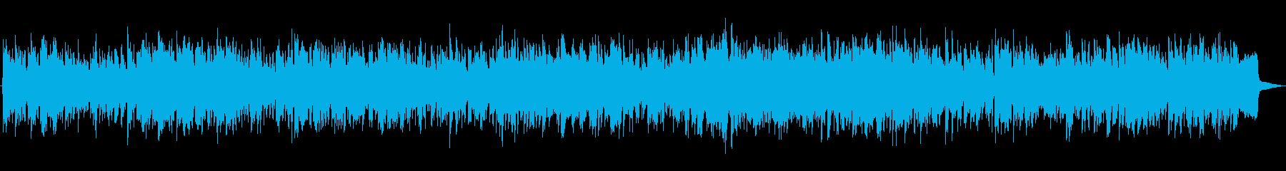 陽気なカントリーBGMの再生済みの波形