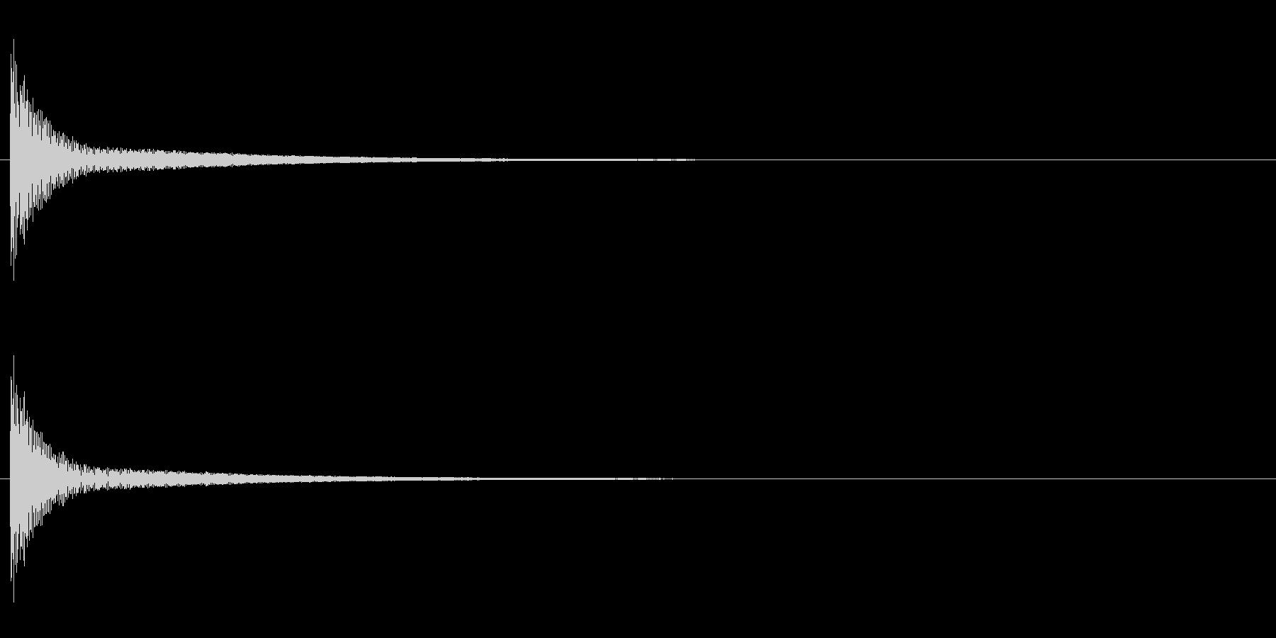 「ポン」うちわ太皷の単発音+Fxの未再生の波形