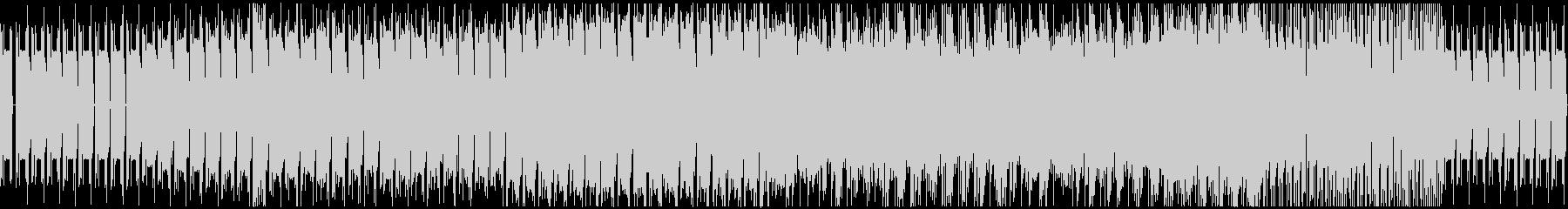 シンセ音メインの機械的なBGMの未再生の波形