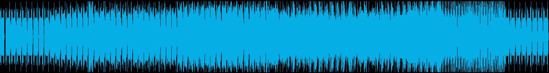シンセ音メインの機械的なBGMの再生済みの波形