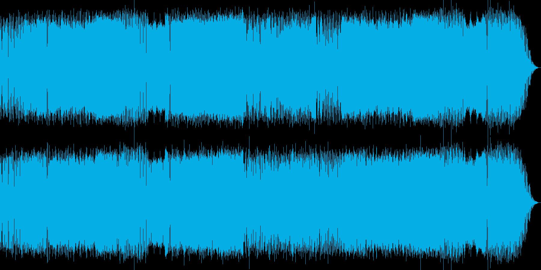 テンポの良いギターポップスの再生済みの波形