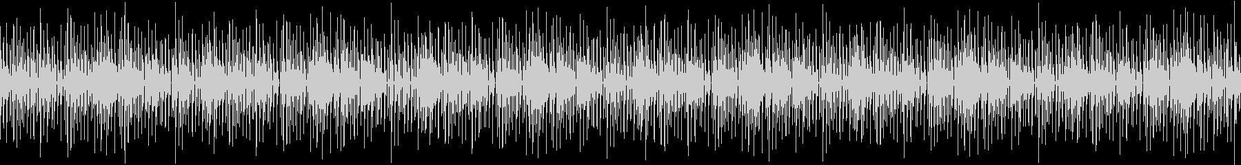 ゆっくりとしたエレクトロBGMの未再生の波形