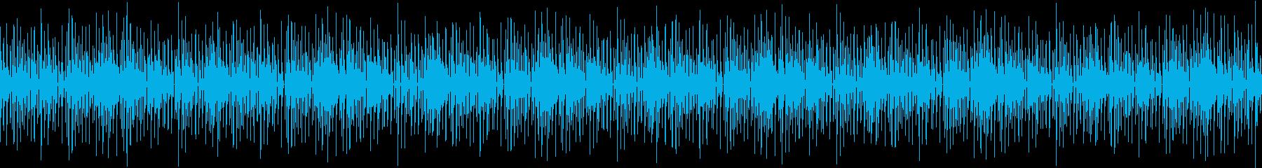 ゆっくりとしたエレクトロBGMの再生済みの波形