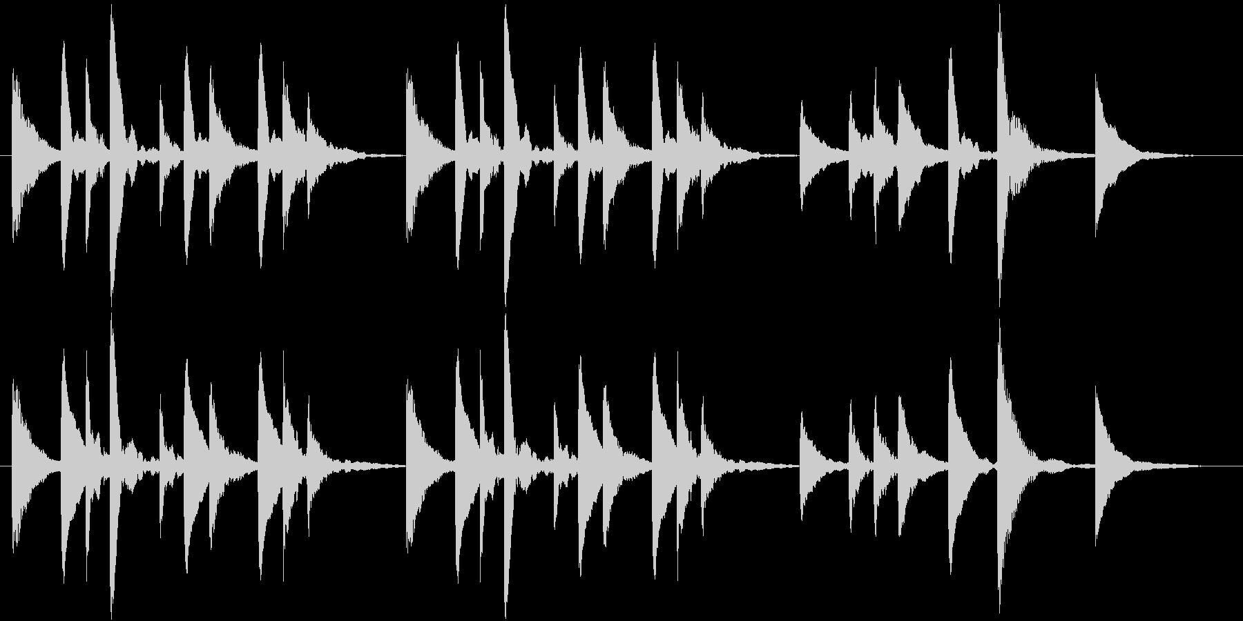 穏やか、ほのぼのとしたマリンバのジングルの未再生の波形