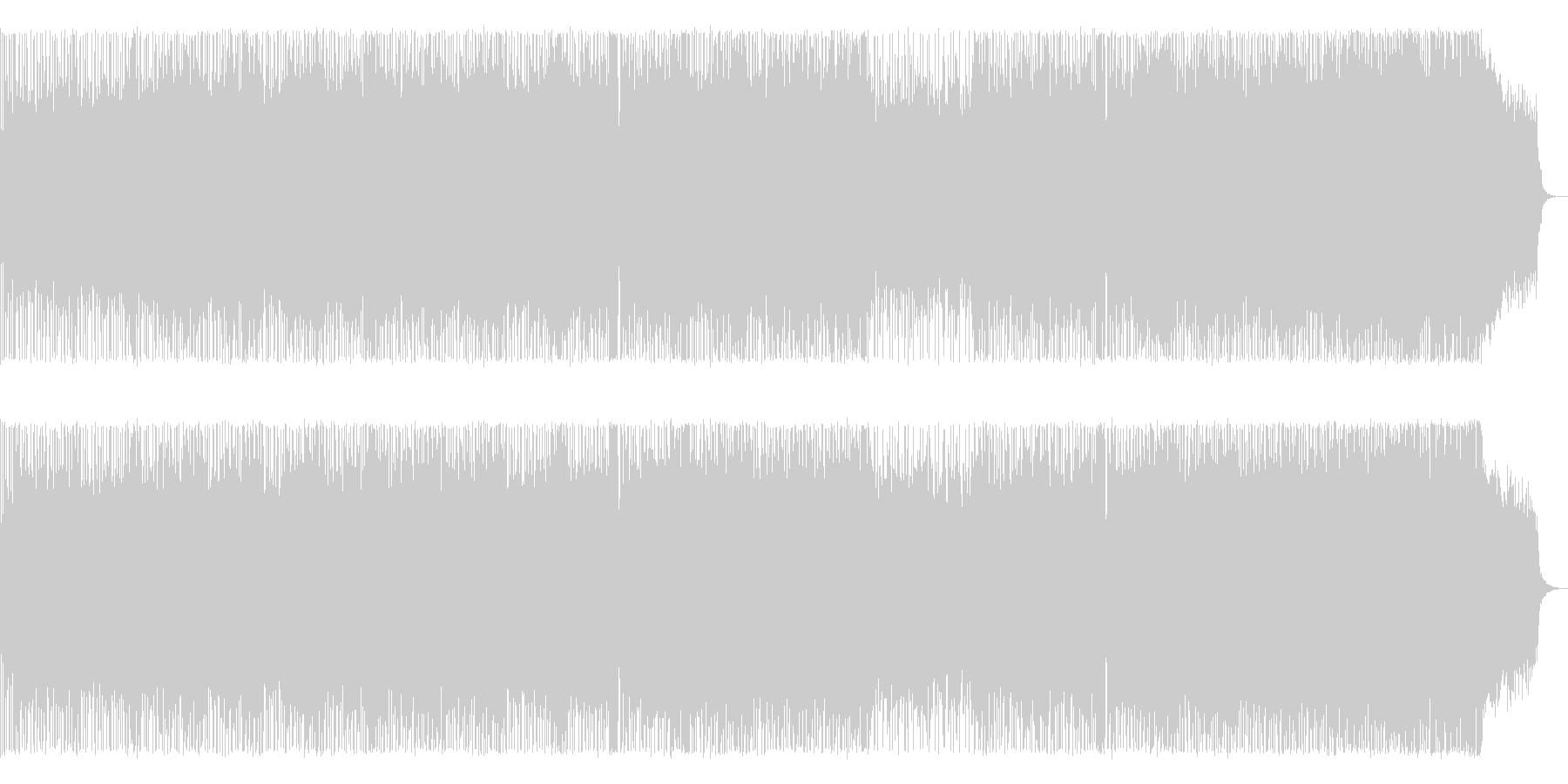 壮大で感動的なメロディアスハードロックの未再生の波形