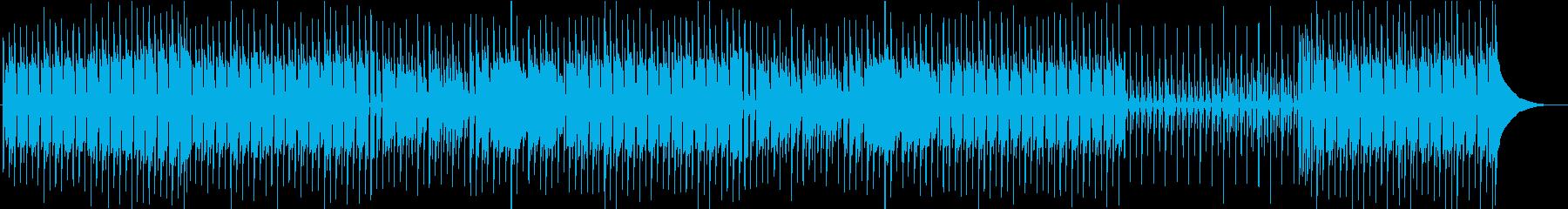 少しコミカルで落ち着いたBGMの再生済みの波形