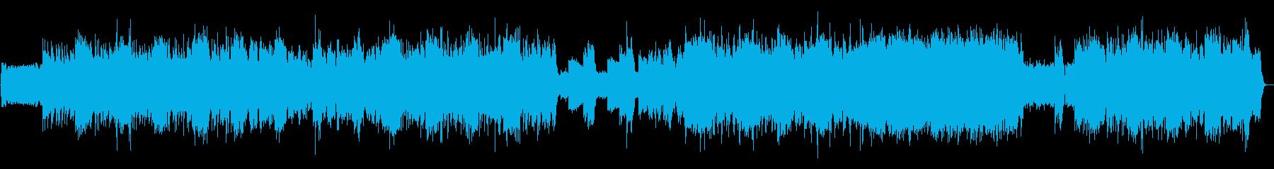 インディーロック 荒々しいバンドサウンドの再生済みの波形