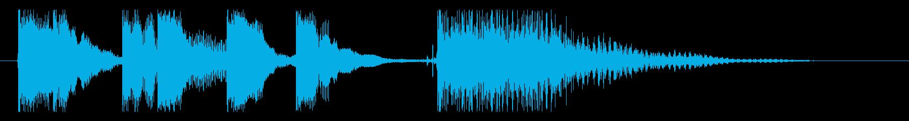 昭和のコント風ジングルですの再生済みの波形