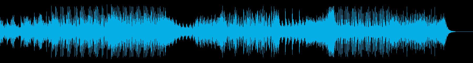 シンセ的ミニマルテクノBGMの再生済みの波形