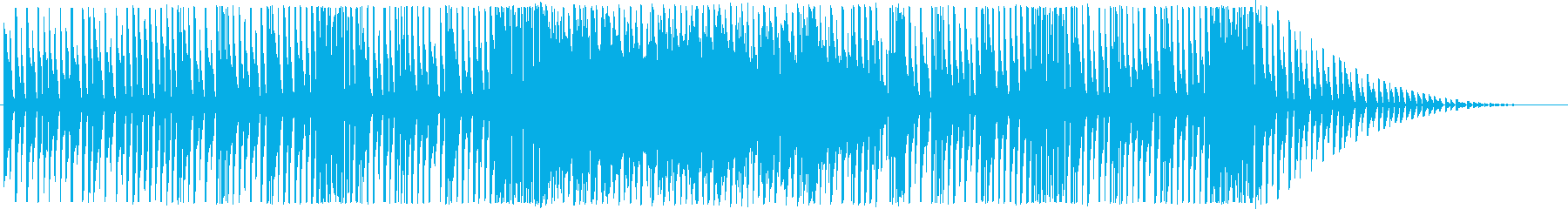 わくわくした雰囲気の楽しい曲の再生済みの波形