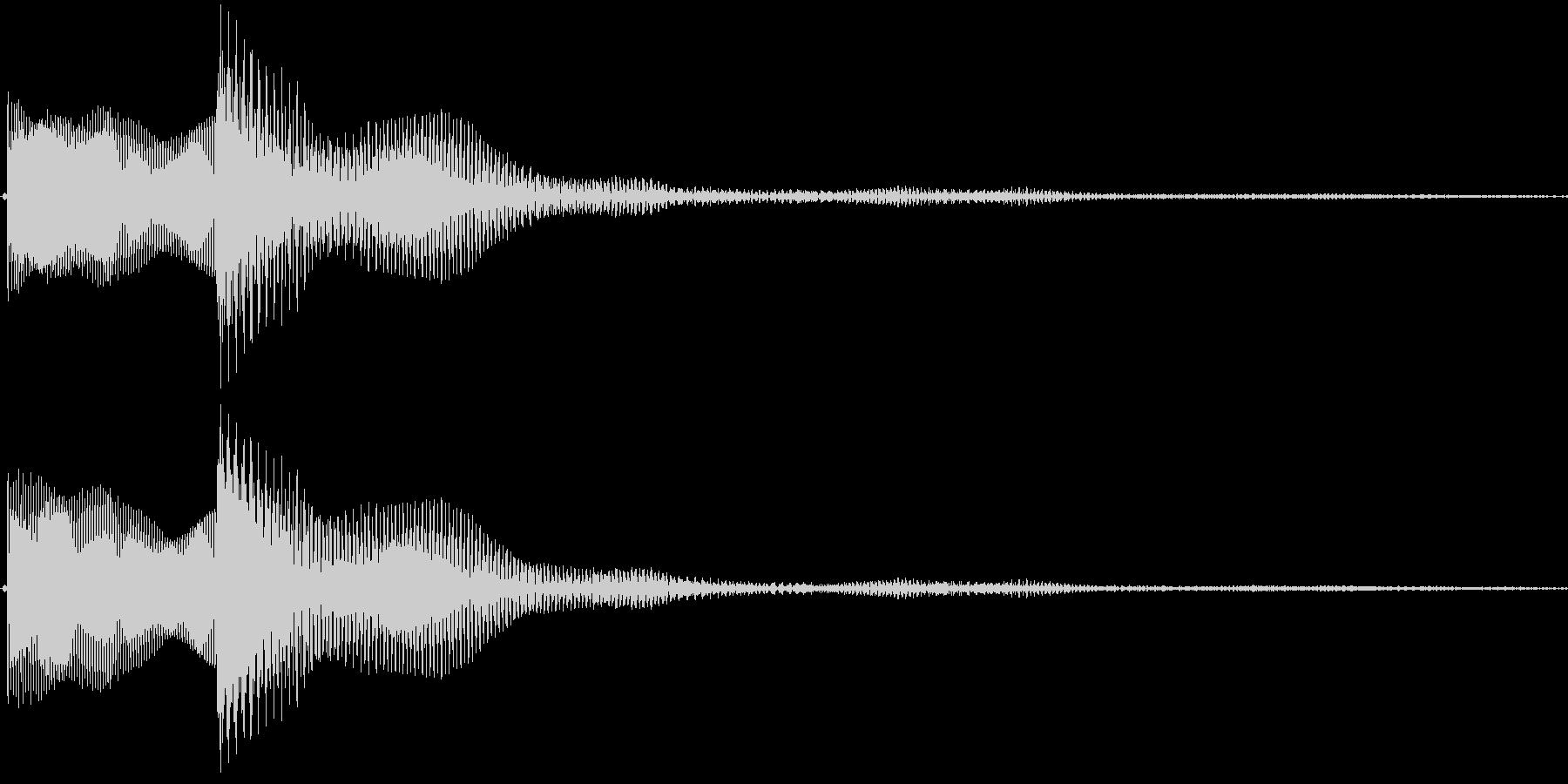 高い・決定音・選択・取得・戻る・ピロンの未再生の波形