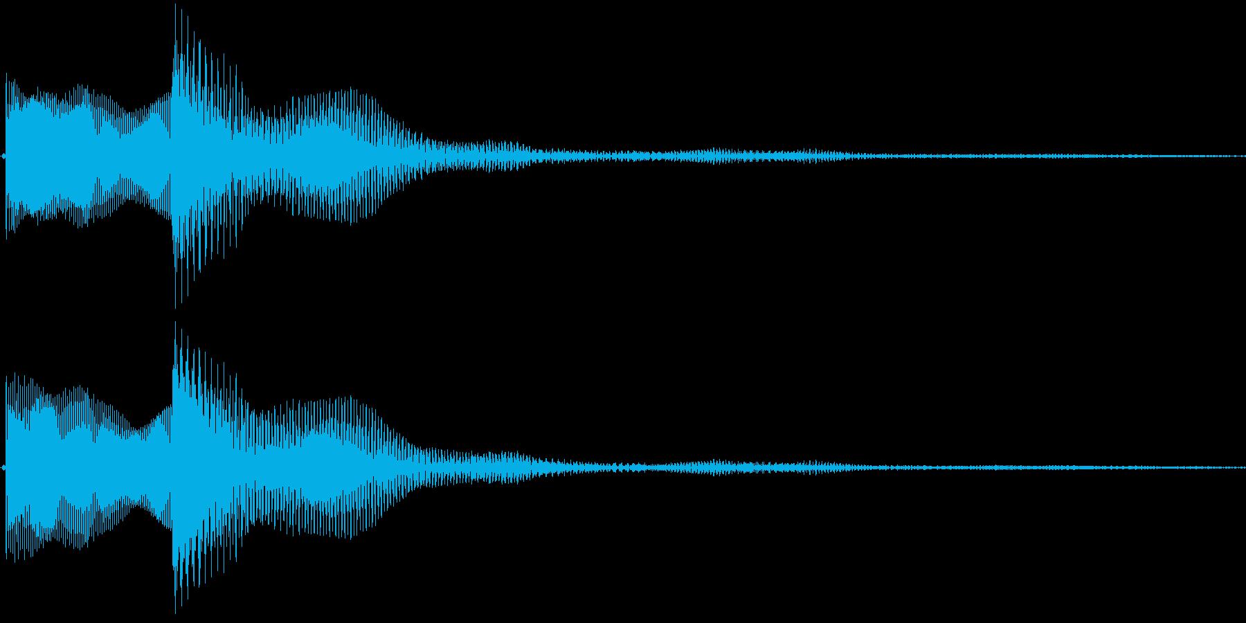 高い・決定音・選択・取得・戻る・ピロンの再生済みの波形