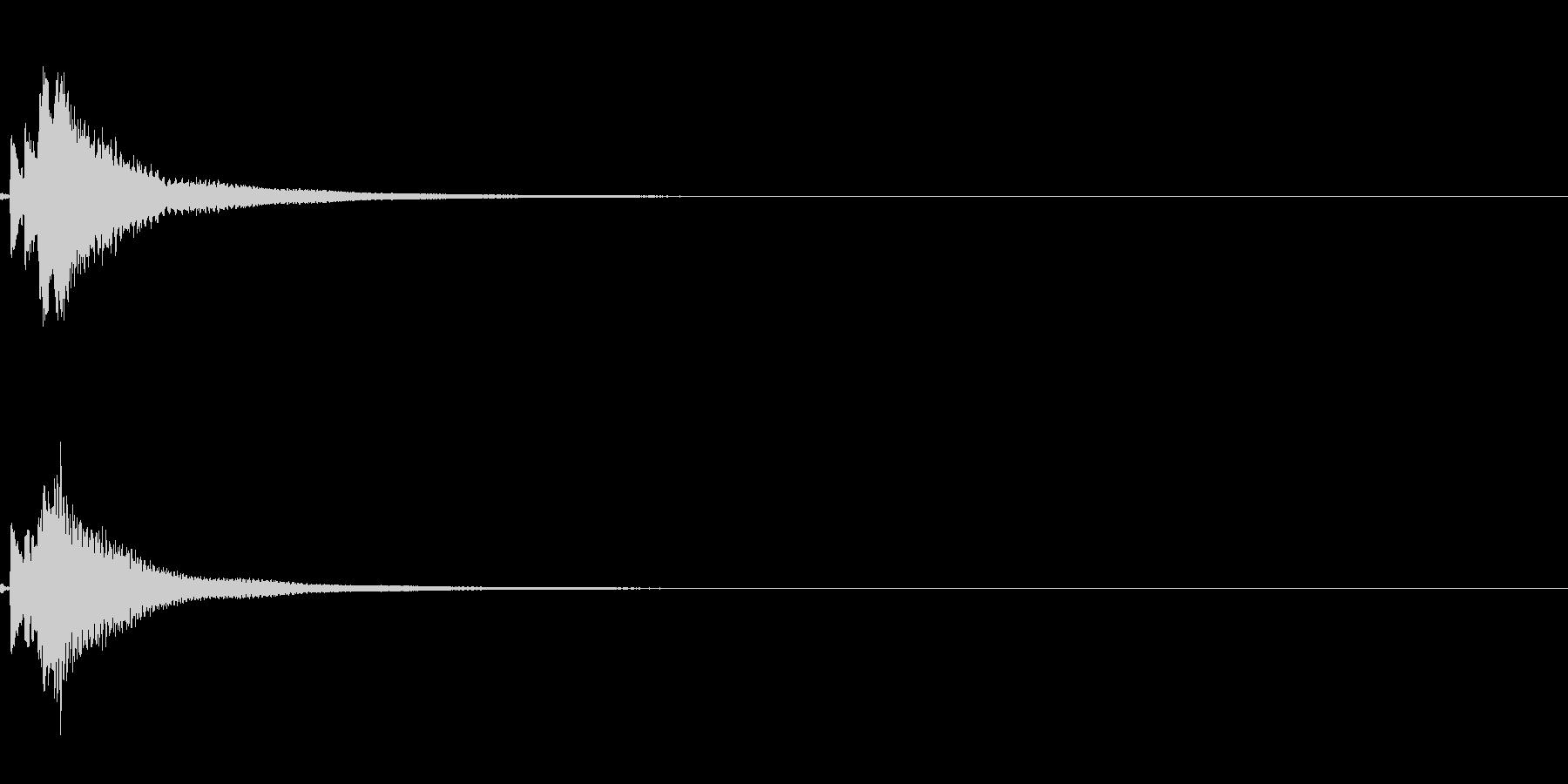 琴のワンショットフレーズ(場面転換等に)の未再生の波形