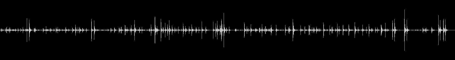 タイピングしている音。の未再生の波形