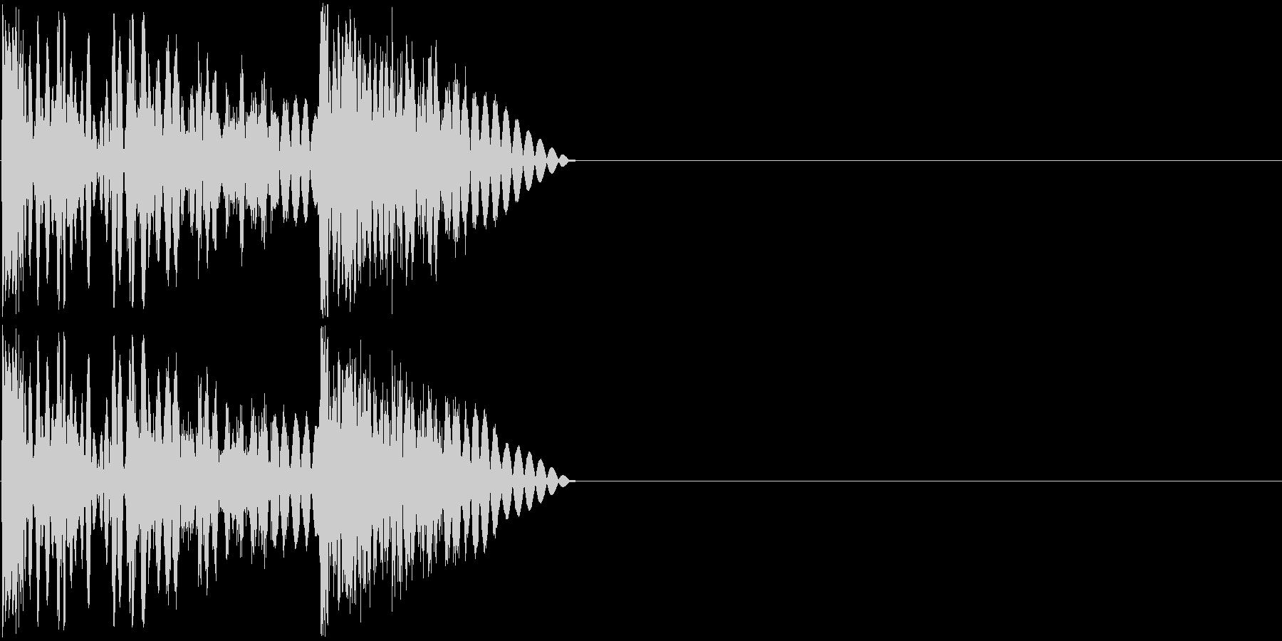 ボコッビシビシッ(ラッシュ攻撃・連打)の未再生の波形