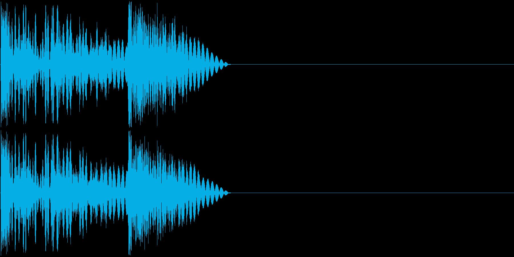 ボコッビシビシッ(ラッシュ攻撃・連打)の再生済みの波形