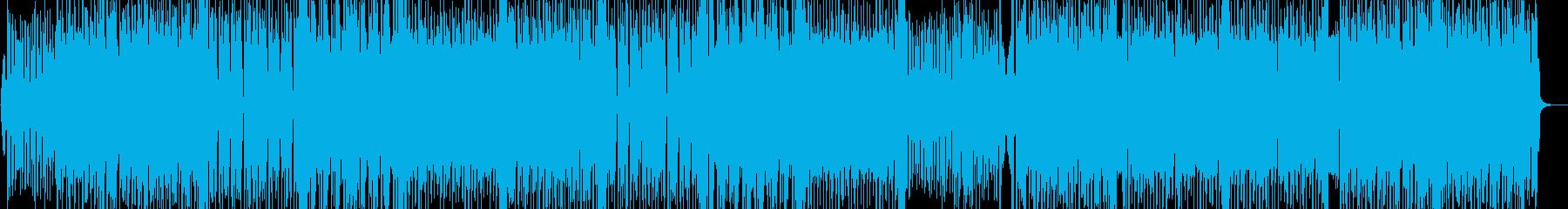 前向きなダンスアップチューンの再生済みの波形