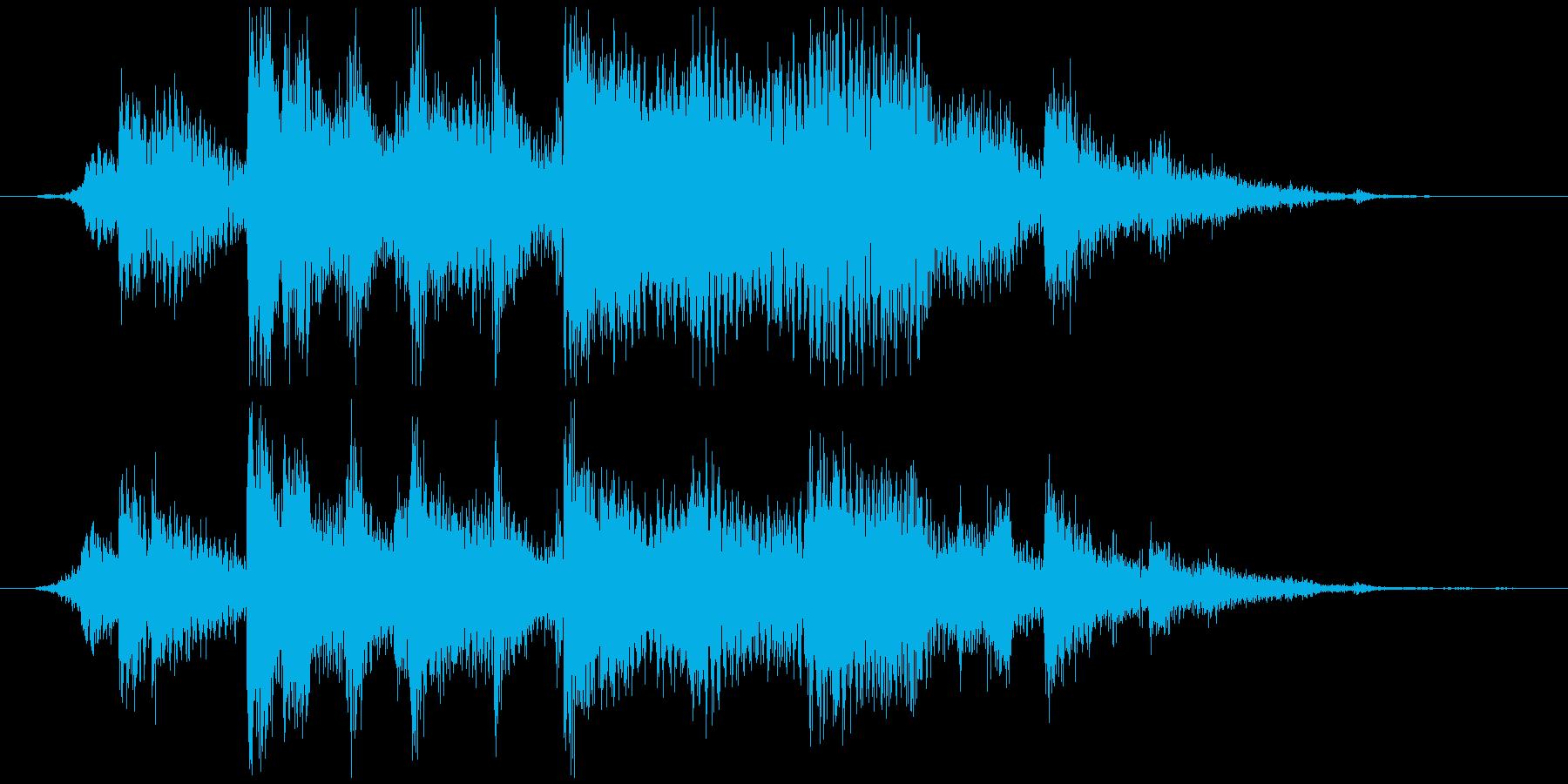 本坪鈴。神社、寺の大鈴。カラン+カラカラの再生済みの波形