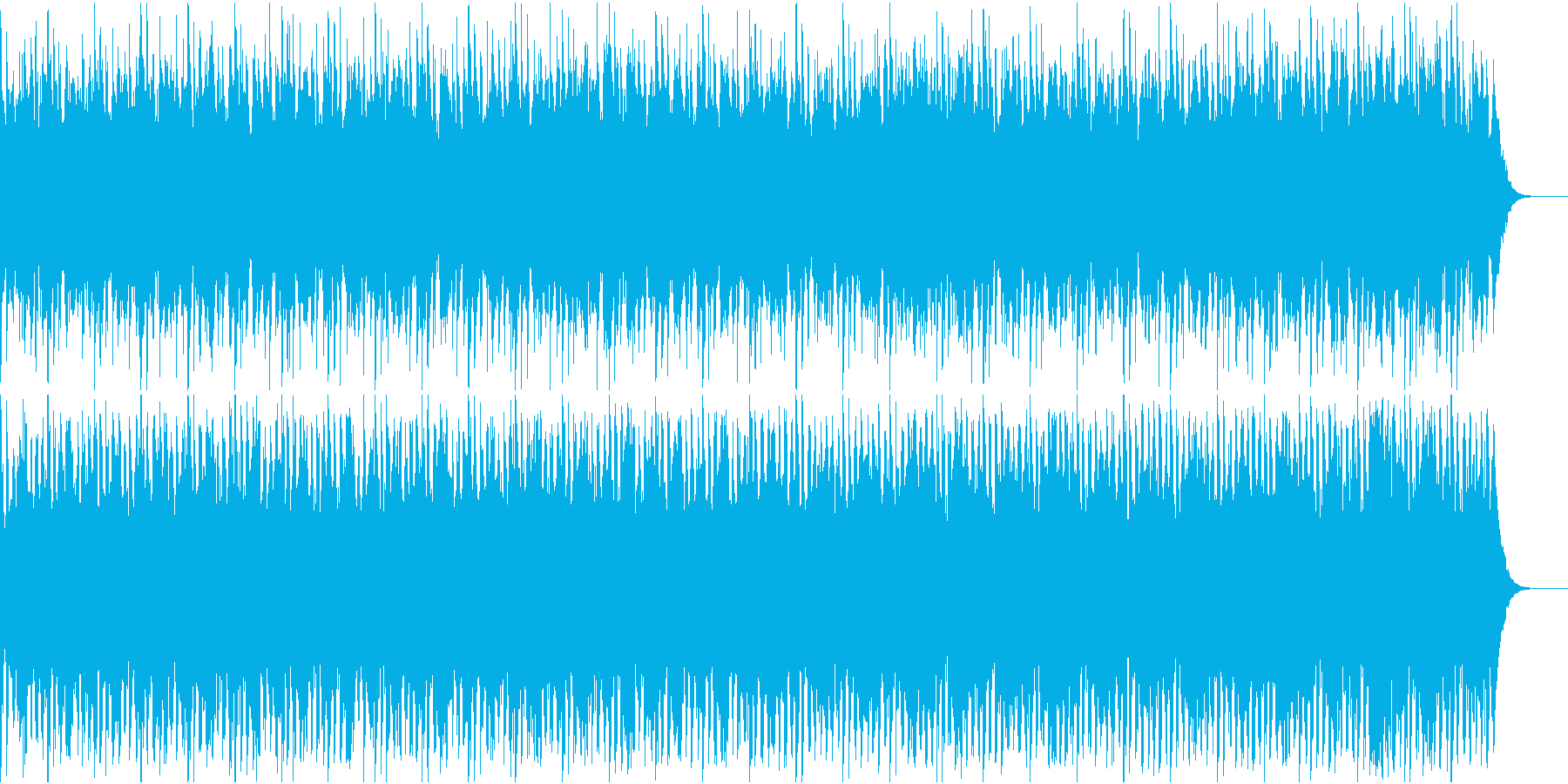 映画風の緊迫した雰囲気のストリングス曲の再生済みの波形