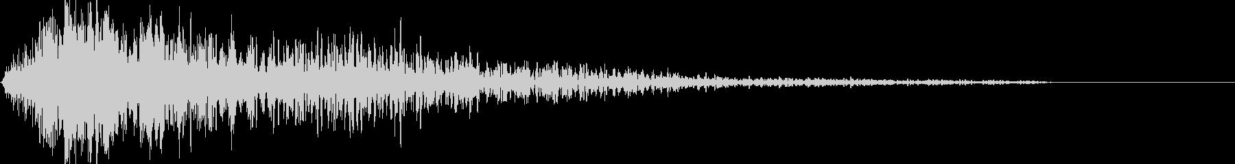 ドムーン 爆発低音下降音 映画トレイラーの未再生の波形