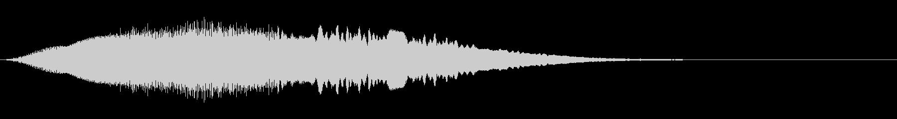 上昇していく効果音、レーザー音 高めの未再生の波形