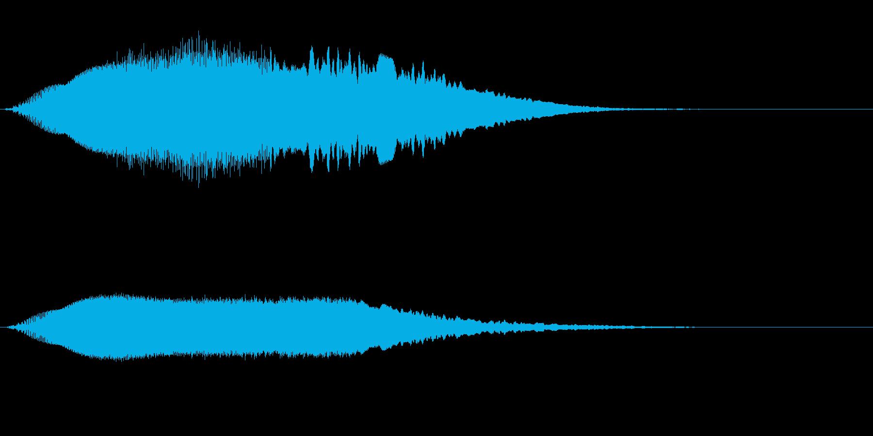 上昇していく効果音、レーザー音 高めの再生済みの波形
