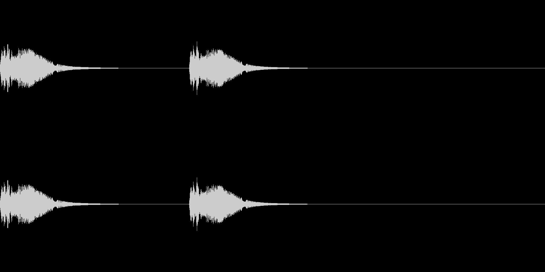 あたりをキョロキョロと見回すSE_2回の未再生の波形