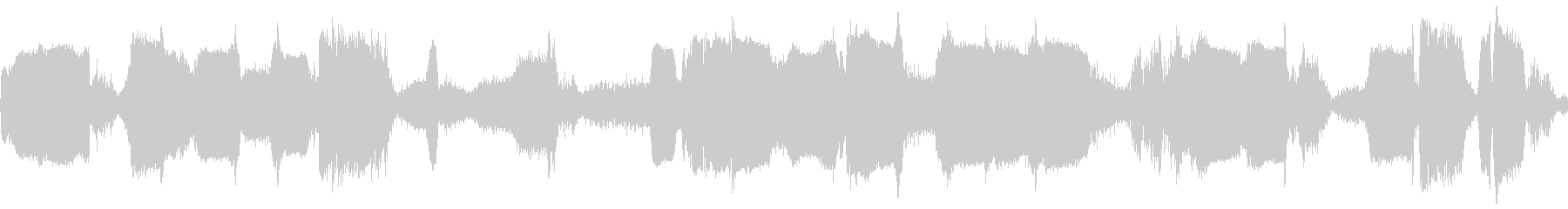 短波チューニングの未再生の波形