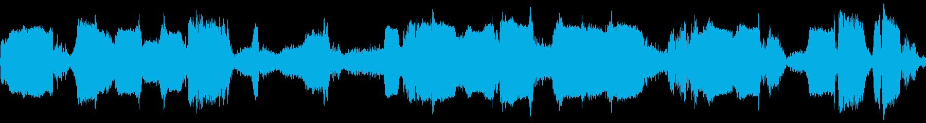 短波チューニングの再生済みの波形