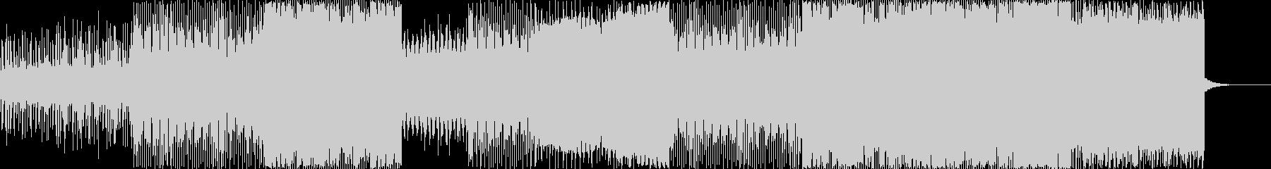 低音が響くシンセウェイブの未再生の波形