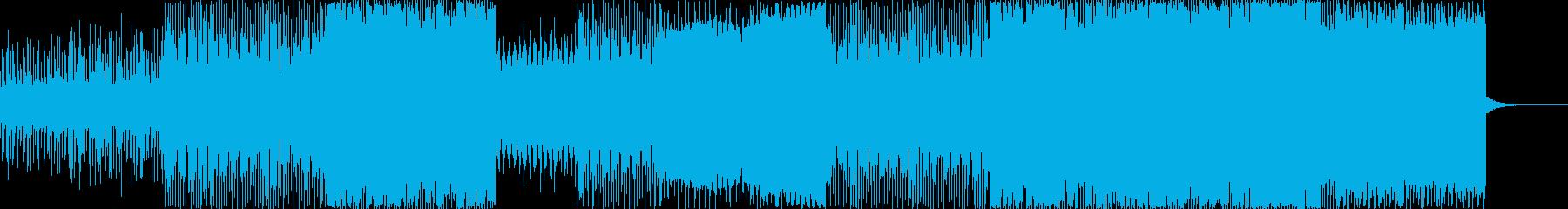 低音が響くシンセウェイブの再生済みの波形
