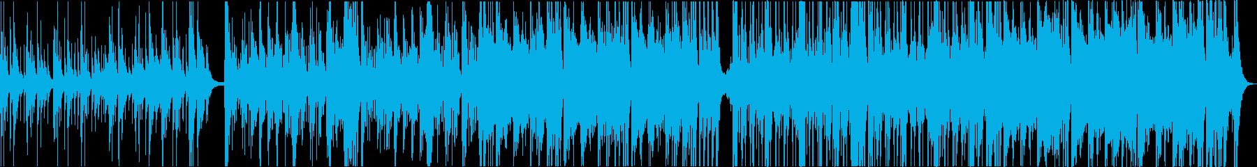 オーケストラクリスマス映像用の明るい曲の再生済みの波形