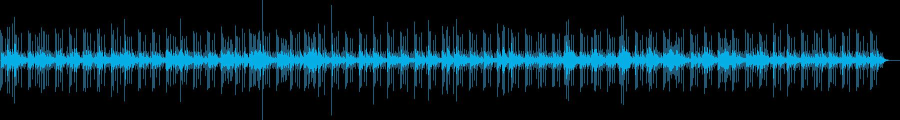 バリ風のエスニックな雰囲気の静かな曲の再生済みの波形
