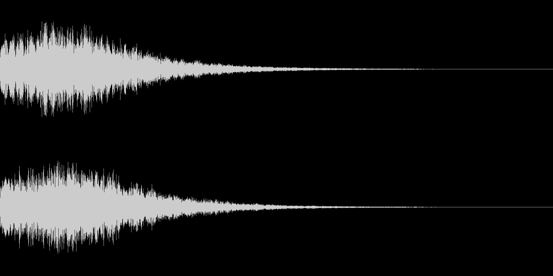 やわらかい決定音 シンセサイザー1の未再生の波形