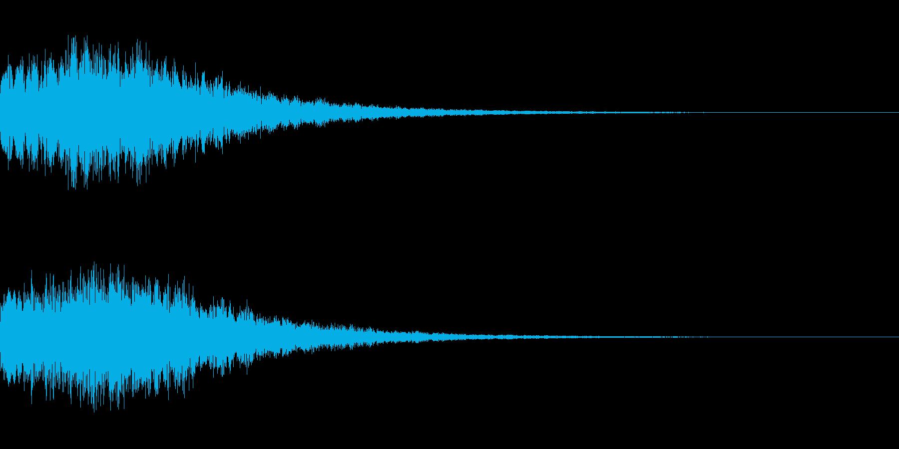 やわらかい決定音 シンセサイザー1の再生済みの波形