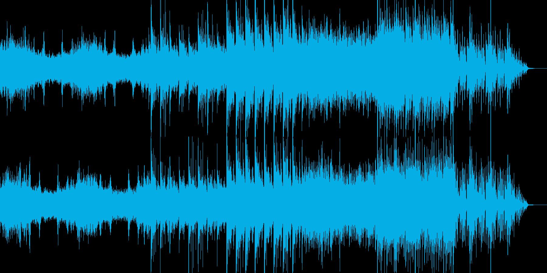 映像、背景的音楽ー湿地帯の再生済みの波形