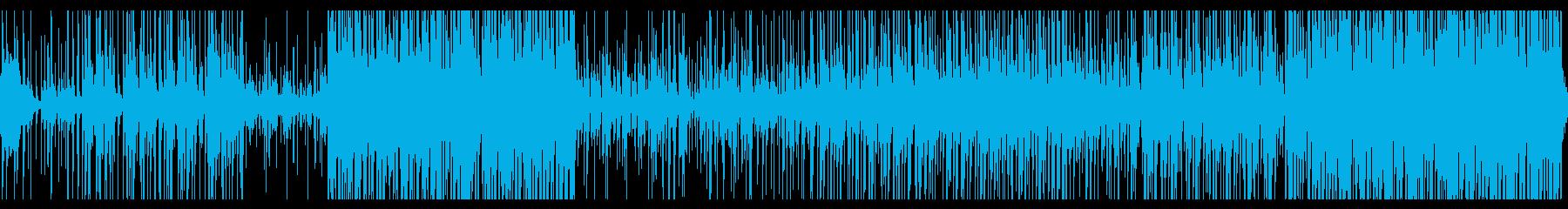 民族調のダンスBGMの再生済みの波形