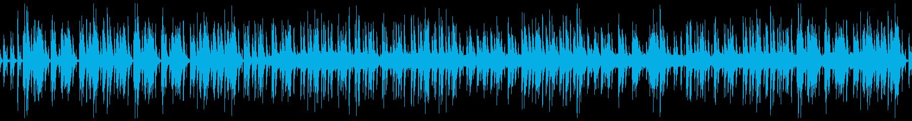 ハワイアン風ほのぼのウクレレのゆるい曲の再生済みの波形
