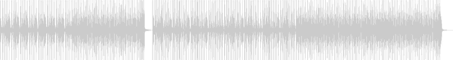 ドラムが中心なシンプルなロックの未再生の波形