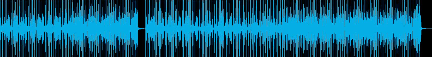 ドラムが中心なシンプルなロックの再生済みの波形