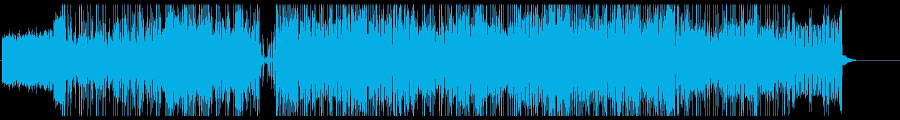 疾走感のあるダークでポップなBGMの再生済みの波形
