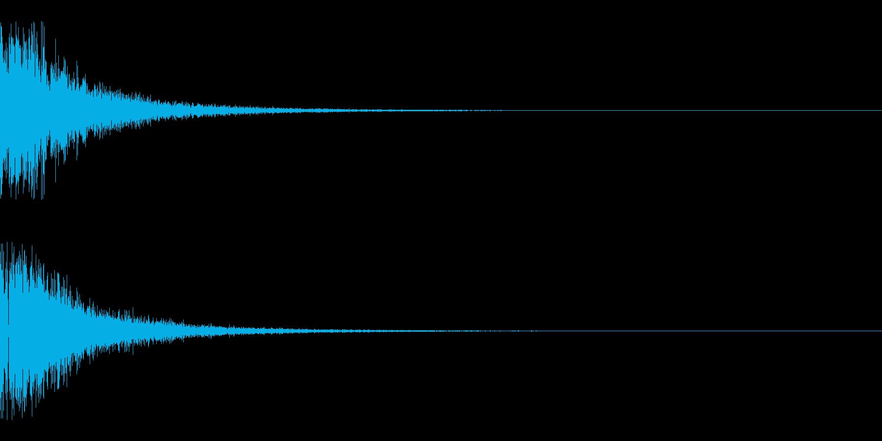 バーン(銃声)の再生済みの波形