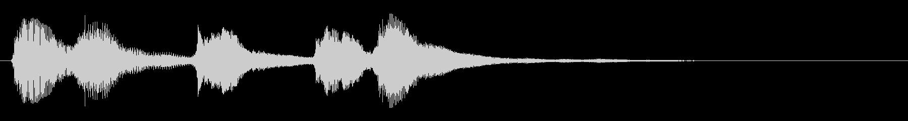 可愛いサウンドロゴ の未再生の波形