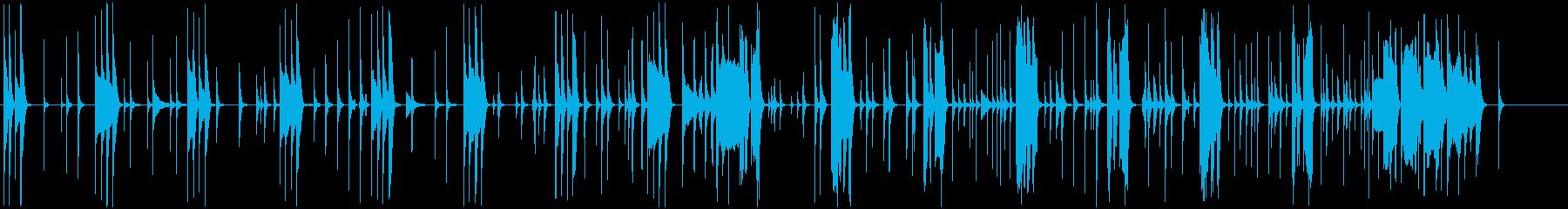 日常のゆるゆるグダグダな会話シーンの再生済みの波形