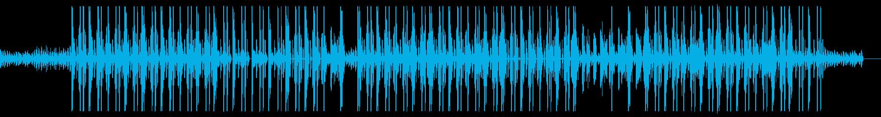 ローファイな王宮風ヒップホップビートの再生済みの波形