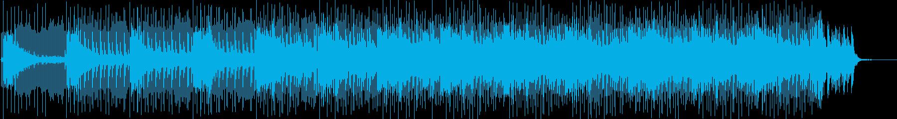 対決シーン向けのテクノの再生済みの波形