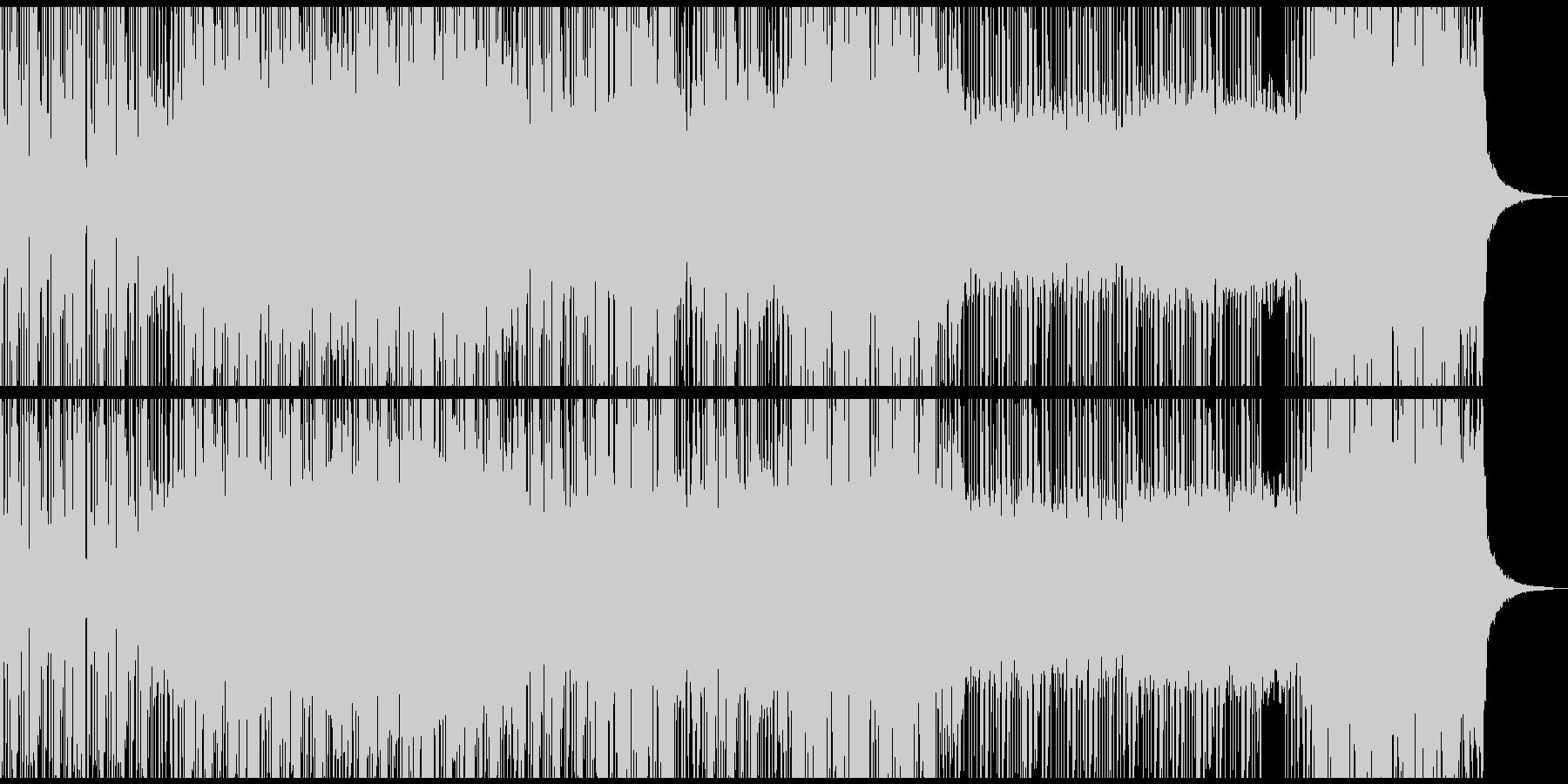 サイバーパンクな世界観のデジタルロックの未再生の波形