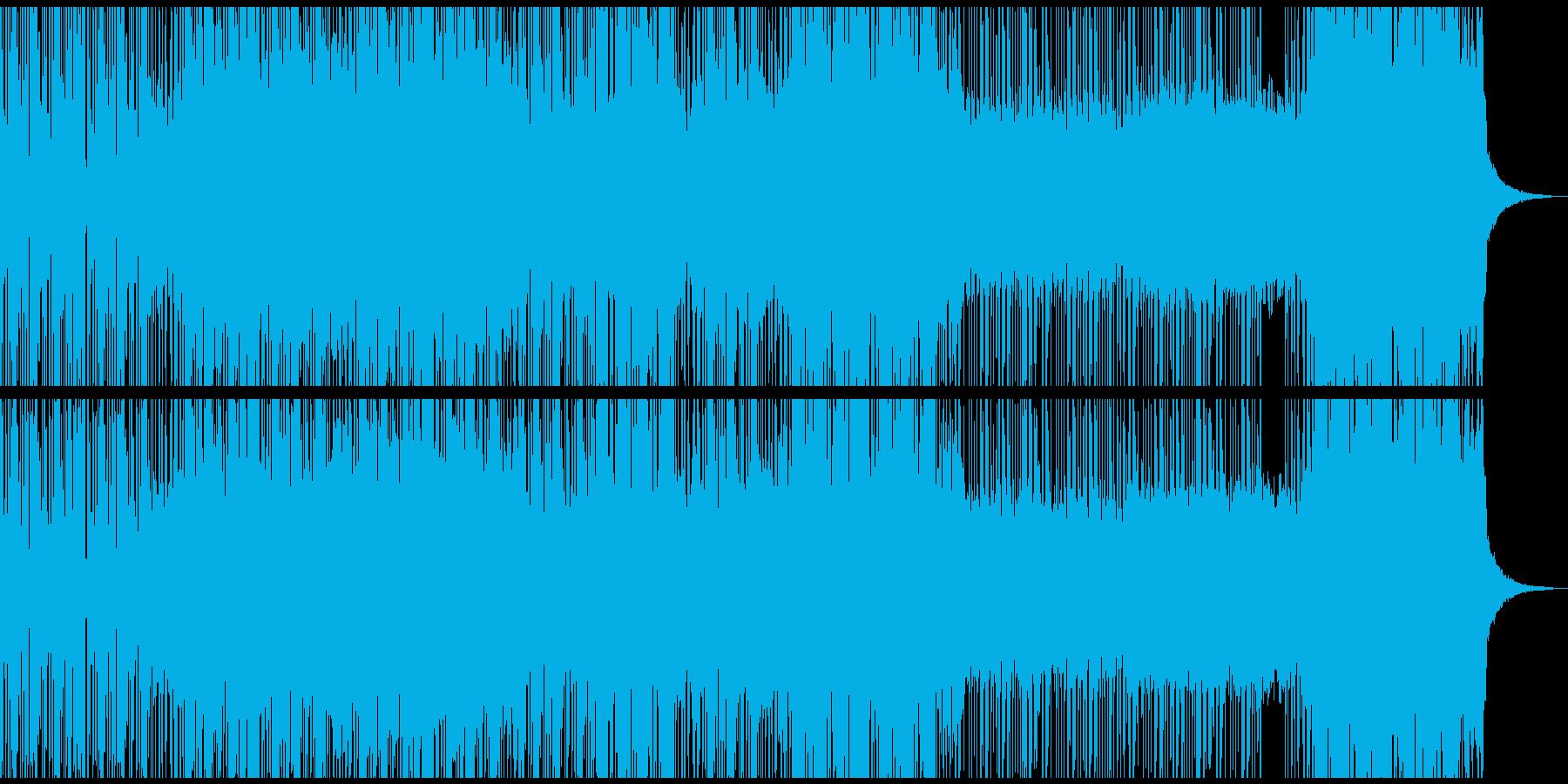 サイバーパンクな世界観のデジタルロックの再生済みの波形